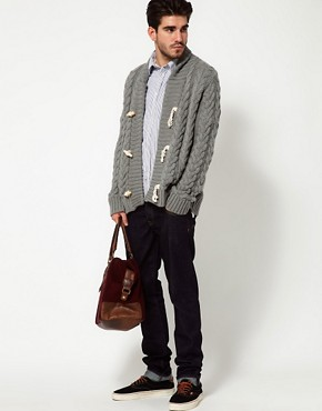 Image 4 ofPepe Jeans Cardigan Shawl Collar Cable Knit