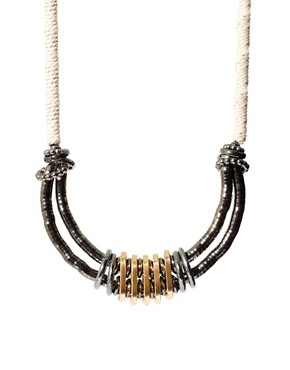 Image 2 ofASOS Cupchain and Cord Statement Necklace