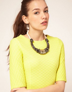 Image 3 ofASOS Cupchain and Cord Statement Necklace