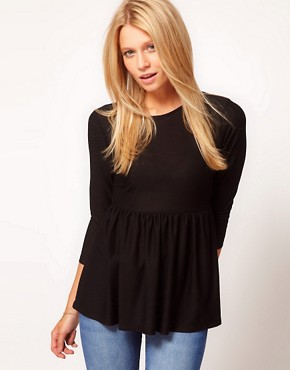 Image 1 ofASOS Crepe Empire Peplum