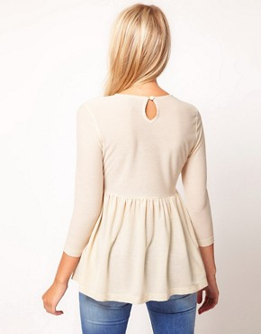 Image 2 ofASOS Crepe Empire Peplum