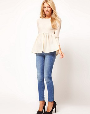 Image 4 ofASOS Crepe Empire Peplum