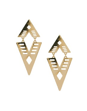 Image 1 ofASOS Articulated Arrow Earring