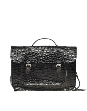 Image 1 ofZatchels Leather Satchel with Reptile Print