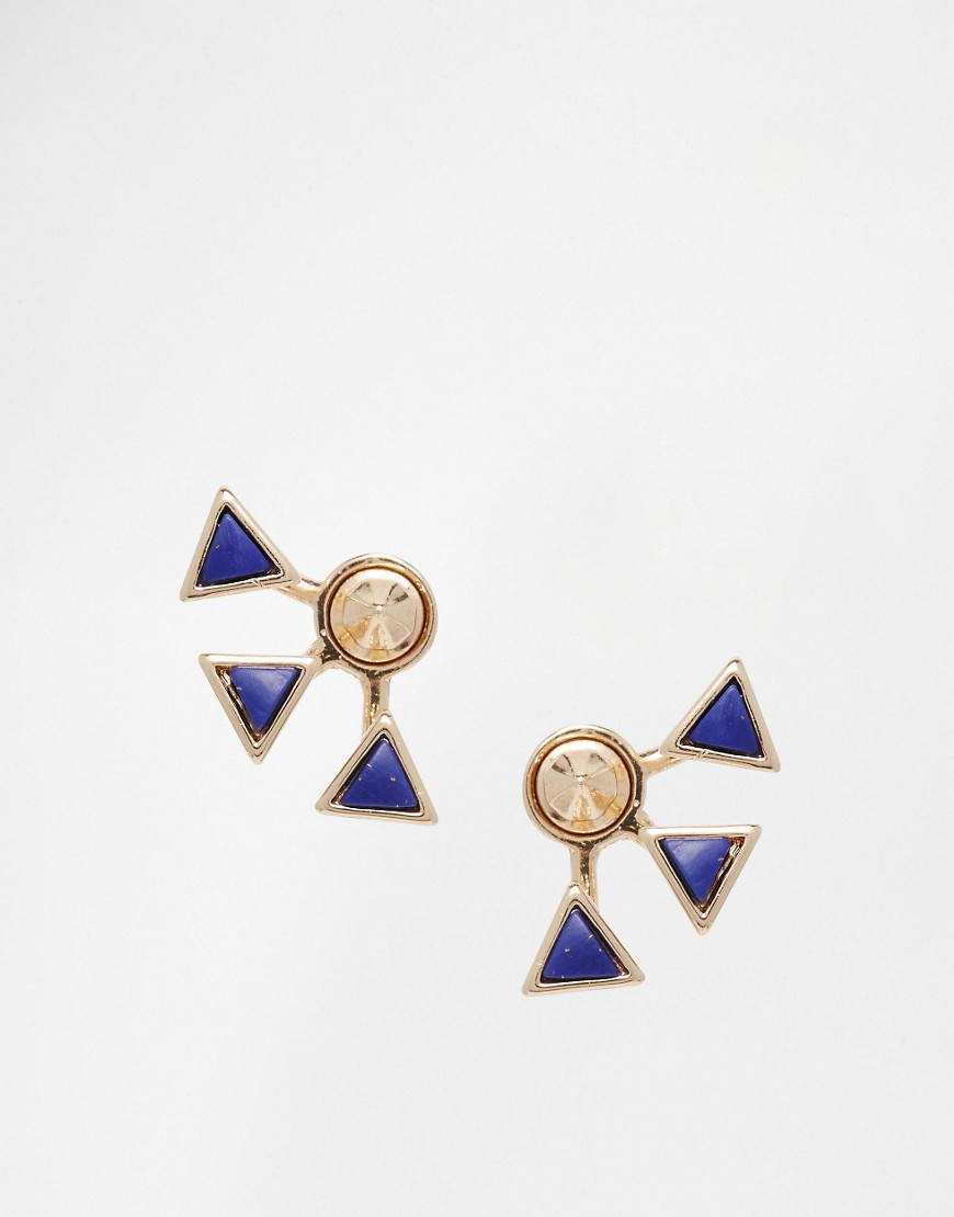 Rachel Roy Spike Crawler Multipack Drop Earrings - Blue