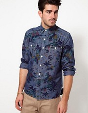 Levis Shirt Jethro Long Sleeve Hawaiian Chambray