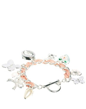 Image 2 ofAccessorize Watch Charm Bracelet With Butterfly Charms