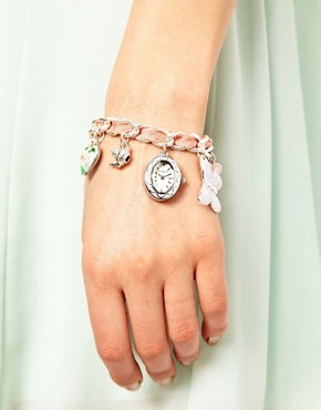 Image 3 ofAccessorize Watch Charm Bracelet With Butterfly Charms