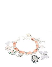 Accessorize Watch Charm Bracelet With Butterfly Charms