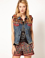 Denim &amp; Supply By Ralph Lauren Gilet With Embroidery