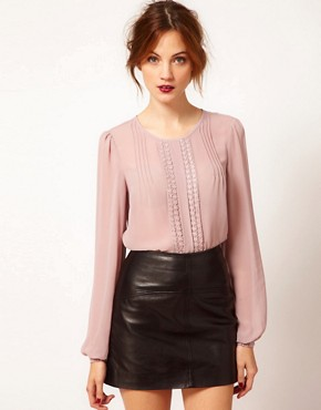 Image 1 ofWarehouse Lace Shell Top