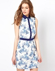A Wear Cherry Blossom Shirt Dress