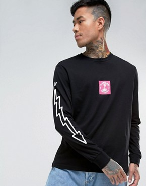 Element Snake Box Long Sleeve T-Shirt In Black