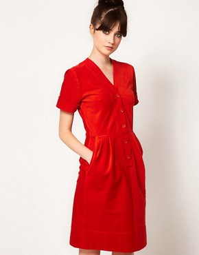 Image 1 ofPeter Jensen Corduroy Dress