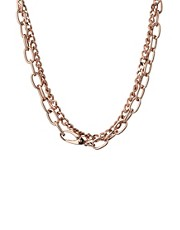 ASOS Double Row Chain Choker Necklace