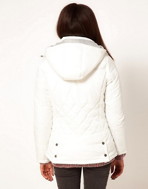 Image 2 of Puffa Hooded Jacket With Quilting Detail