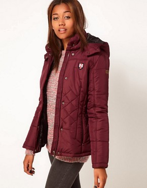 Image 1 of Puffa Hooded Jacket With Quilting Detail
