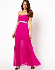 Lipsy Maxi Dress with Diamante Waistband