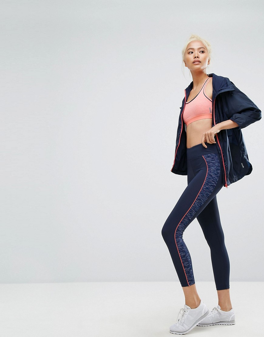 Esprit Contrast Piped Gym Leggings - Navy