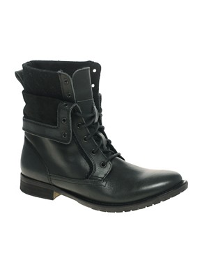 Image 1 ofASOS Foldover Military Boots