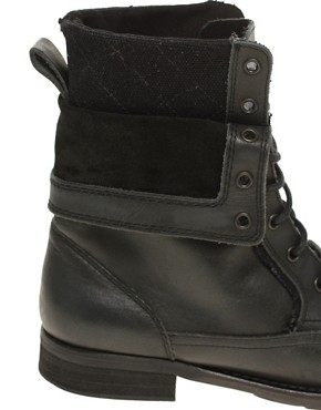 Image 3 ofASOS Foldover Military Boots