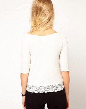 Image 2 ofDenim &amp; Supply By Ralph Lauren Top With Lace Trim