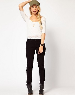 Image 4 ofDenim &amp; Supply By Ralph Lauren Top With Lace Trim
