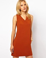 ASOS Shift Dress With V Neck