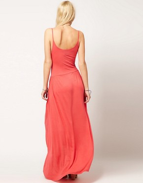 Image 2 ofASOS Maxi Dress With Dipped Hem