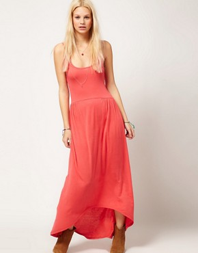 Image 4 ofASOS Maxi Dress With Dipped Hem