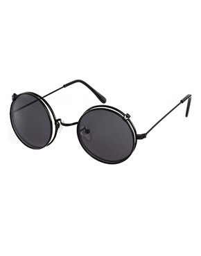 Image 1 ofASOS Metal Sunglasses With Clip Off Frames