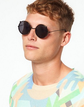 Image 3 ofASOS Metal Sunglasses With Clip Off Frames