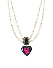 Minnie Mawi By Disney Couture Heart Beaded Collar