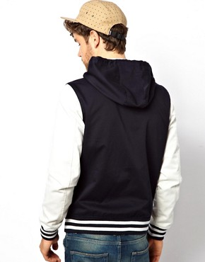 Image 3 ofASOS Varsity Jacket With Hood