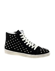 Steve Madden Twynkle Black High Top Trainers