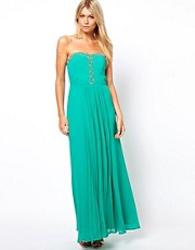Oasis Embellished Bandeau Maxi Dress
