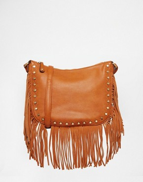 Street Level Fringed X Body Bag