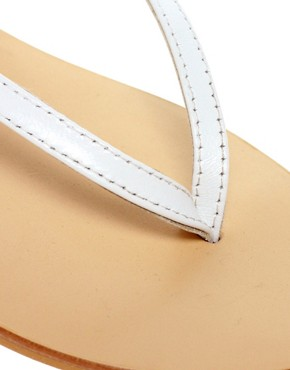 Image 2 ofASOS FINISH Leather Flat Sandals