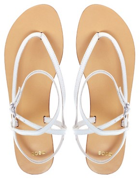 Image 3 ofASOS FINISH Leather Flat Sandals