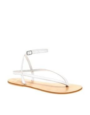 Image 1 ofASOS FINISH Leather Flat Sandals