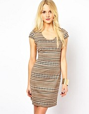 Oasis Dogtooth Scuba Dress