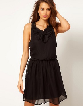 Image 1 ofASOS Mini Dress with Ruffle Front