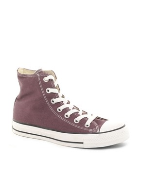 Image 1 ofConverse All Star Speciality Burgundy High Top Trainers