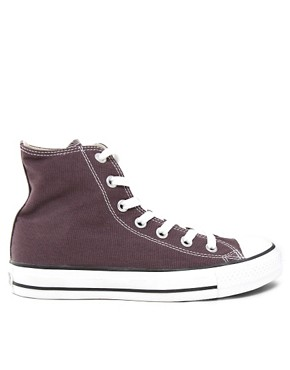 Image 4 ofConverse All Star Speciality Burgundy High Top Trainers