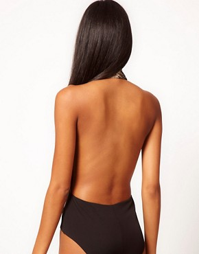Image 2 ofAqua Torval Backless Halterneck Bodysuit