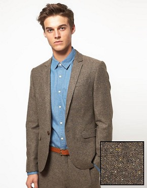 Image 1 ofASOS Slim Fit Suit Jacket in Tweed