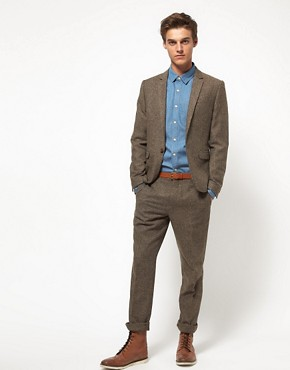 Image 4 ofASOS Slim Fit Suit Jacket in Tweed