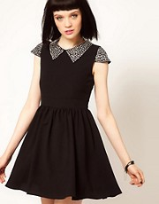 Sister Jane Stud Collar Skater Dress