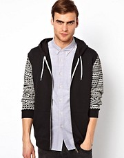 River Island Hoodie with Design Sleeves