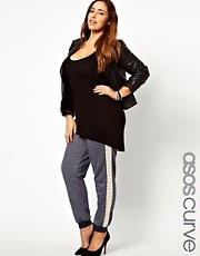 ASOS CURVE - Jogger con dettagli ricamati